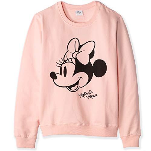 Disney Offizielles Minnie Mouse Damen-Sweatshirt, Baumwolle, Gr. S, M, L, XL Gr. Medium, rose