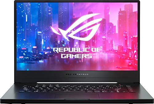 Product Image 1: Newest ASUS ROG Zephyrus G 15.6″ FHD IPS Premium Gaming Laptop, AMD Quad Core Ryzen 7 3750H Upto 4.0GHz, 16GB RAM, 512GB PCIe SSD, NVIDIA GTX 1660Ti 6GB GDDR6, RGB Backlit Keyboard, Windows 10