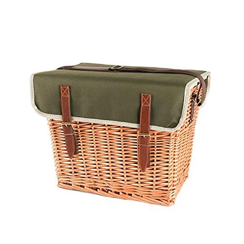 JianMeiHome Picnic Basket Portable Picnic Basket Set Outdoor Picnic Box Insulation Box with Lid Outdoor Picnic Basket Picnic Basket for 4 People (Color : Natural, Size : 423033cm)