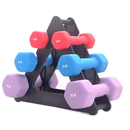 Wenini Dumbbell Rack, Stand 3 Tier Dumbbell Storage Rack, Compact Dumbbell Bracket Free Weight Stand for Home Gym Organization Holds 30 Pounds,Without The Weights