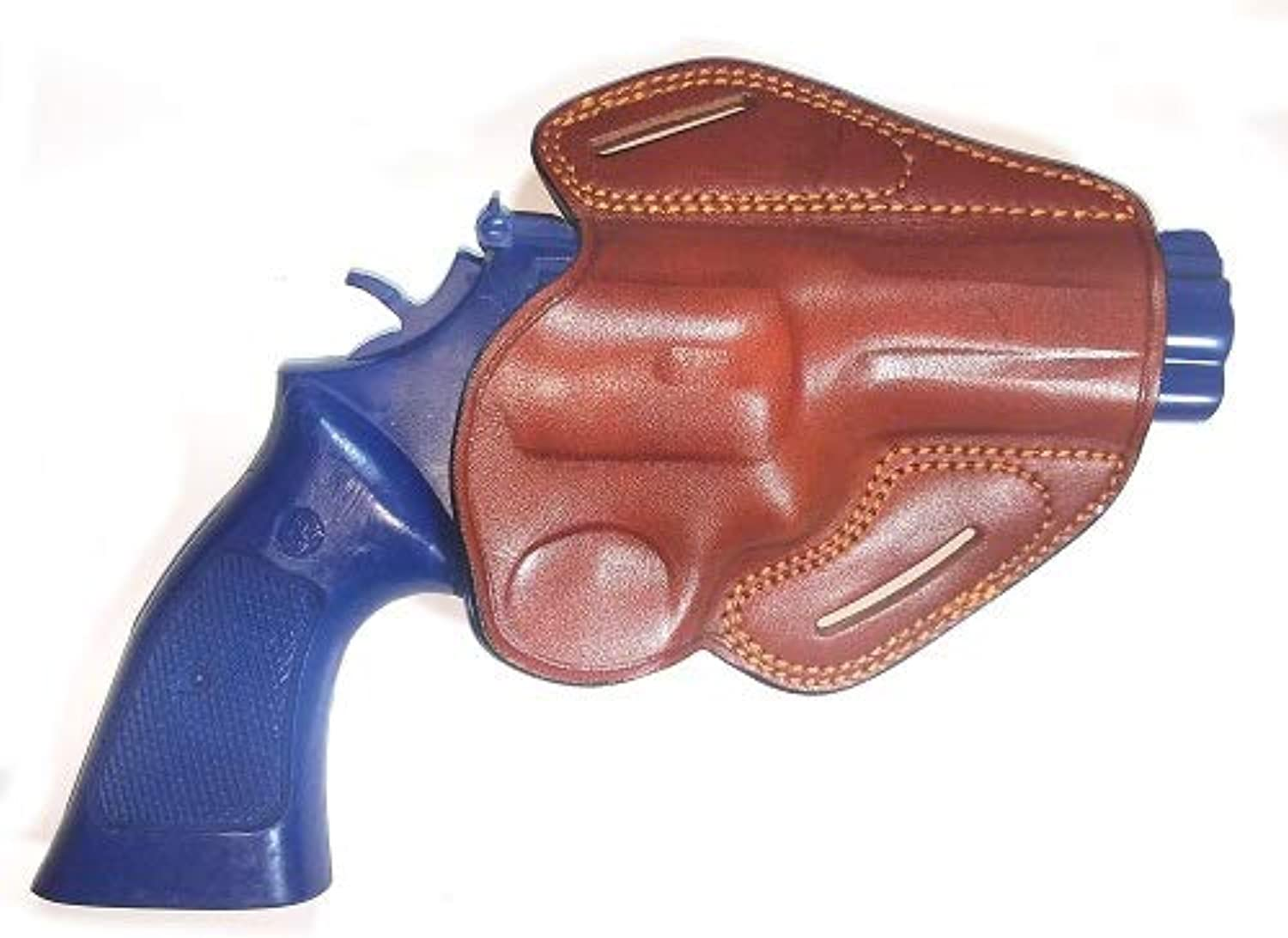 Prestige Smith & Wesson 686 Open TOP OWB Belt Leather Holster