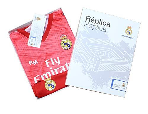 Kit Infantil Real Madrid Réplica Oficial Licenciado de la Tercera Equipación Temporada 2018-19 Sin Dorsal (14 años)