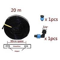 40分の20/80メートル農業点滴灌漑テープ温室灌水システム16ミリメートルドリップテープ15/20/30センチメートルスペースおむつカバーホース 高品質の材質 (Color : Clear, Lengh : 2 Sets(40m))