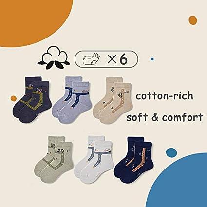 Boys Cotton Crew Socks Kids Seamless Toe Socks Athletic Quarter Socks