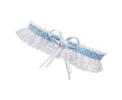 BrautChic XL XXL Strumpfband zur Hochzeit - Schmales ELEGANTES Brautstrumpfband EXTRA WEIT, für Brautkleid große Größen - Must Have - Brautaccessoires, Trauzeugin Geschenk an Braut - WEIß