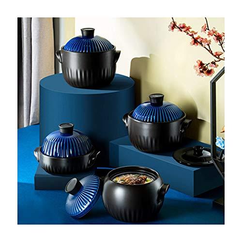 Cacerola de hierro fundido Cacerola De Cerámica,Resistencia de alta temperatura del acumulador de cerámica de doble cubierta de hogar antiguo-4.5L
