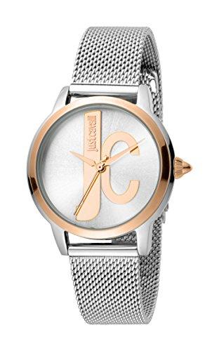 Just Cavalli Reloj Analógico para Mujer de Cuarzo con Correa en Acero Inoxidable JC1L050M0115