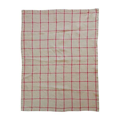 Winkler - Torchon à carreaux Karma – 55x75 cm - 100% lin absorbant - Serviette à vaisselle, chiffon de nettoyage, lingette de séchage