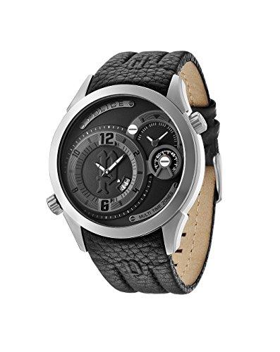 INTELIHANCE. 14195JS/02 - Reloj de Cuarzo para Hombre, Correa de Cuero Color Negro