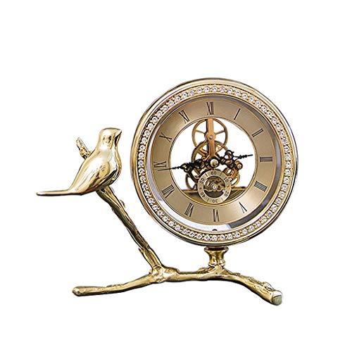 GYZX 1 unids aleación de Cuero luz luz Creativa Personalidad Tabla Reloj Sala de Estar Reloj de Escritorio Adornos a Domicilio Mesa clockl