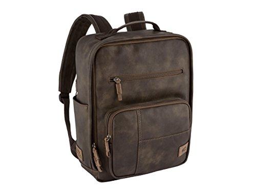 camel active, Laos, Rucksack Herren, Laptoprucksack, Business Tasche, gepolstertes Laptopfach, Smartphone Fach, Braun, 28x12x38, cm.