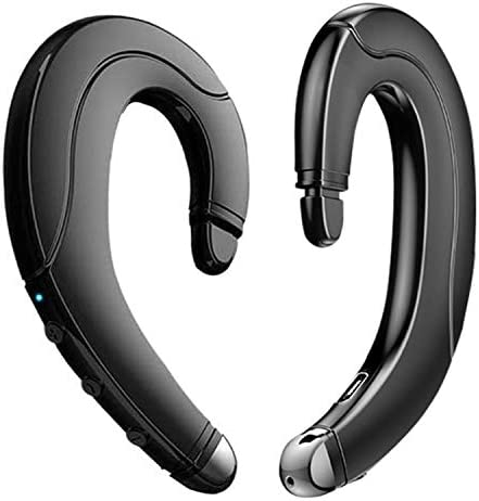 Wireless Bluetooth Headphone Painless Wearing Headset with Mic for Cell Phone Non Ear Plug Non product image