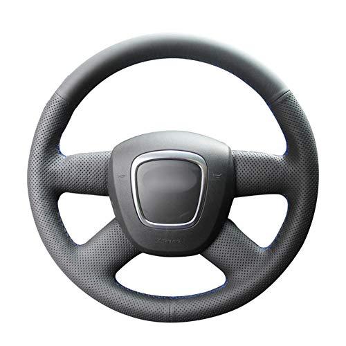USNASLM Funda para volante de piel sintética sintética cosida a mano, para Audi A3 (8P) Sportback A4 (B8) A4 (B7) A6 (C6)