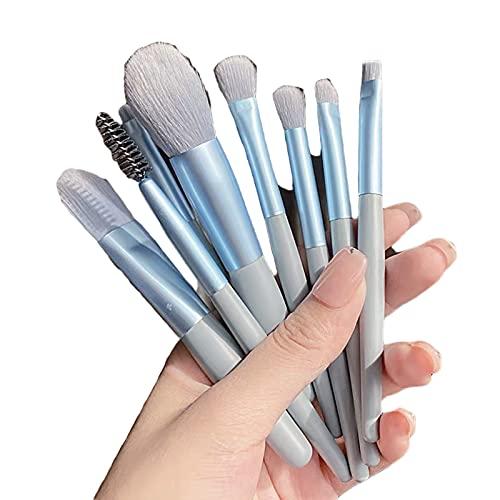 HRTX Juego de brochas de Maquillaje Juego de brochas de Maquillaje de 8 Piezas Juego de brochas Corrector de Rubor en Polvo Suelto Mezcla de brochas de Base sintética Avanzada