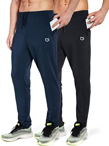 G Gradual Men s Sweatpants with Zipper Pockets Tapered Track Athletic Pants for Men Running product image