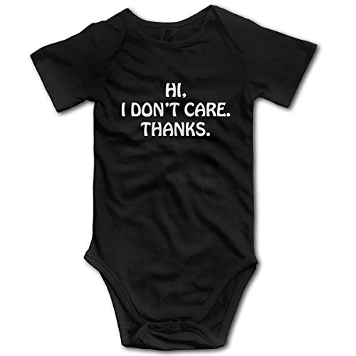 Yuanmeiju I Don't Care Thanks Infant Baby Boy Short Sleeve Monos Vest Clothes Mameluco Outfit