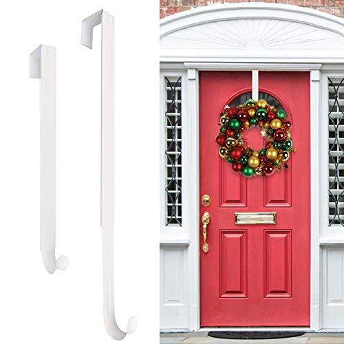 HEYHOUSE Wreath Hanger,Christmas Wreath Hanger for Front Door Adjustable from 14.9-25 Inches, Larger Door Wreath Hanger Festival Wreaths,Decorations Hook