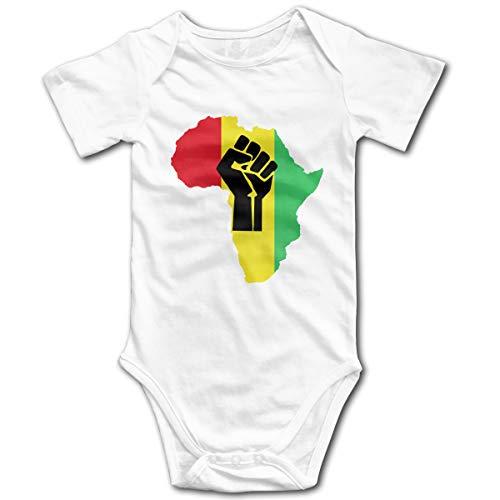 U are Friends Enfant bébé Barboteuse bébé à Manches Courtes Black Piece Africaine Power Piece Newborn Girls(2T,Blanc)
