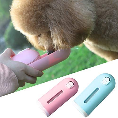 Balacoo Bebedero Perro Botella de Agua Portátil para Perros y Gatos Bebedero de Viaje para Mascotas al Aire Libre, Caminar, Viajar (Azul)