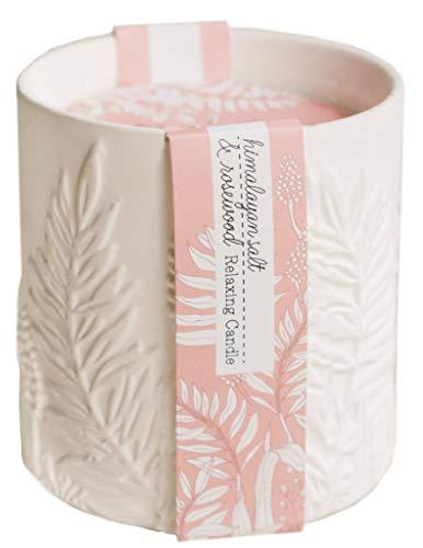 The Cottage Greenhouse Himalayan Salt & Rosewood Ceramic Candle