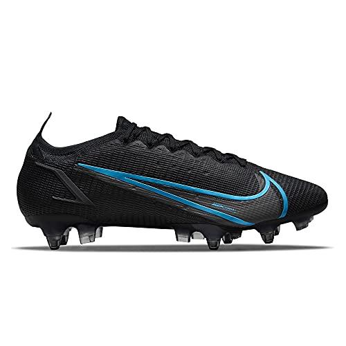 Nike Vapor 14 Elite SG-PRO AC, Scarpe da Calcio Unisex-Adulto, Black/Black-Iron Grey-Univ Blue, 42 EU