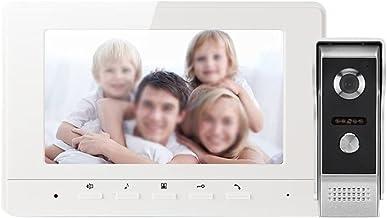 MLZWS Video Deurbel Intercom Systeem 7 Inch 1000 TVL Video Deur Telefoon Invoeringspaneel Dag Nachtzicht Voor Thuisbeveili...