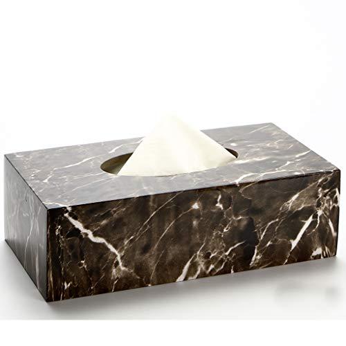 AFQHJ Tissue Box Europese Stijl Woonkamer Tissue Box Huishoudelijke Koffie Tafelboek Doos Servetten Carton Hars Desktop Opbergdoos Tissue Box Cover Facial