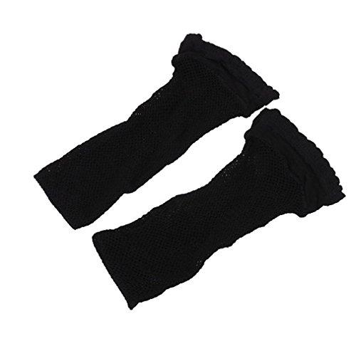 Amybria Ladies' Stylish Black Fishnet Ankle Socks 3 Pairs Ladies Gift