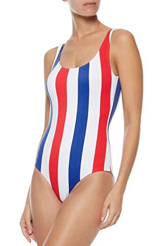 Onia Women's Kelly One-Piece Swimsuit, Americana Stripe (Large)