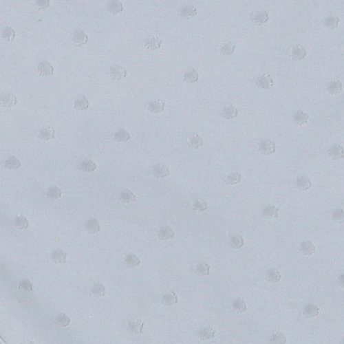 RED CASTLE Couverture Ouatinée 80*70 Pois&Velours, Gris Perle