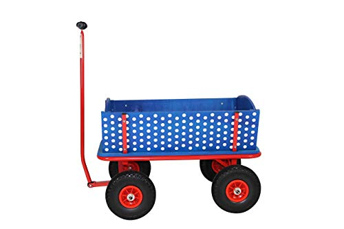 Beachtrekker Style Holzbollerwagen, Handwagen, Leiterwagen (Blaubeere)