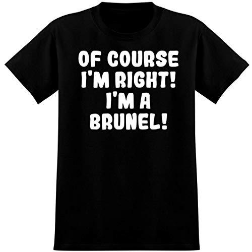 Of Course I'm Right! I'm a Brunel! - Soft Men's T-Shirt, Black, X-Large