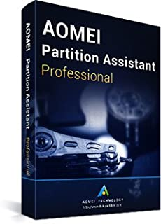 AOMEI Partition Assistant Professional - Latest Edition + Free Lifetime Upgrades - Digital Delivery