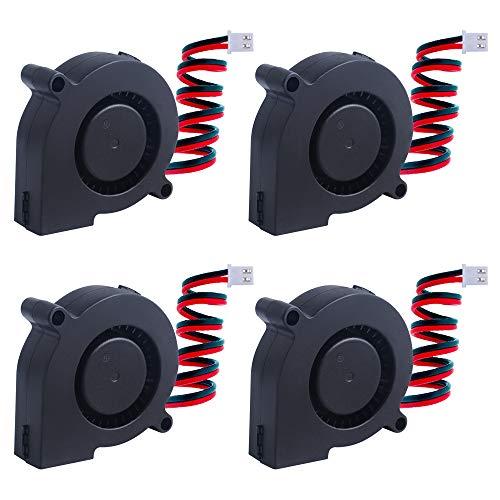 owootecc 4 ventiladores de refrigeración para impresora 3D DC 12V para enfriar disipadores térmicos impresora 3D (50 x 50 x 15 mm)