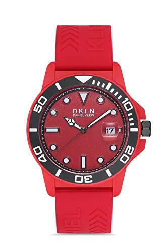 Daniel Klein Reloj de pulsera para hombre (DK12647) – Correa de silicona – Relojes analógicos de moda para hombre – Movimiento de cuarzo japonés – Índices redondos, marcador de flecha – muchos colores