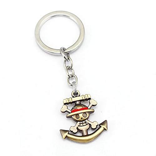 Générique One Piece Porte-clés Métal Logo Monkey D Luffy - 3,5 cm