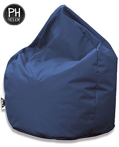 Patchhome Sitzsack Tropfenform Blaugrau für In & Outdoor XL 300 Liter - mit Styropor Füllung in 25 versch. Farben und 3 Größen