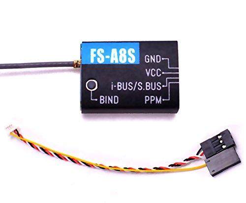 Flysky FS-A8S Receiver 8CH Mini 2.4G FPV Receiver with PPM i-Bus SBUS for Flysky i4 i6 i6S i6X TM10 TM8 Transmitter