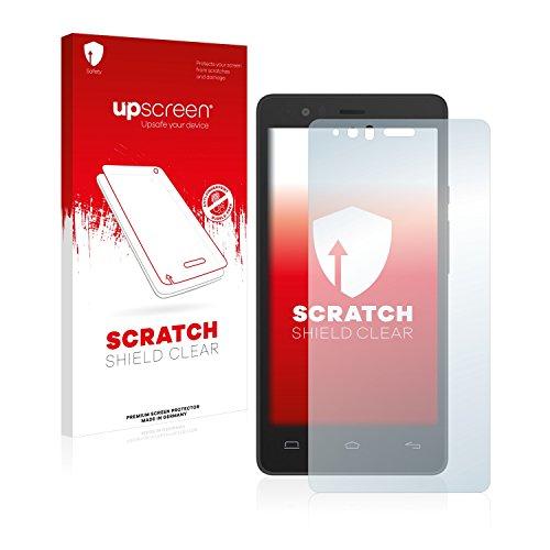 upscreen Schutzfolie kompatibel mit BQ Aquaris E5s – Kristallklar, Kratzschutz, Anti-Fingerprint