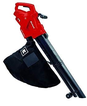 Foto di Einhell 3433300 GC-El 2500 Aspirafoglie/Soffiatore, 2500 W, 230 V, Soffiaggio 240 km/h, Sacco di raccolta da 40 l circa, Nero, Rosso