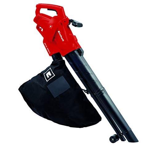 Einhell 3433300 GC-El 2500 Aspirafoglie/Soffiatore, 2500 W, 230 V, Soffiaggio 240 km/h, Sacco di raccolta da 40 l circa, Nero, Rosso