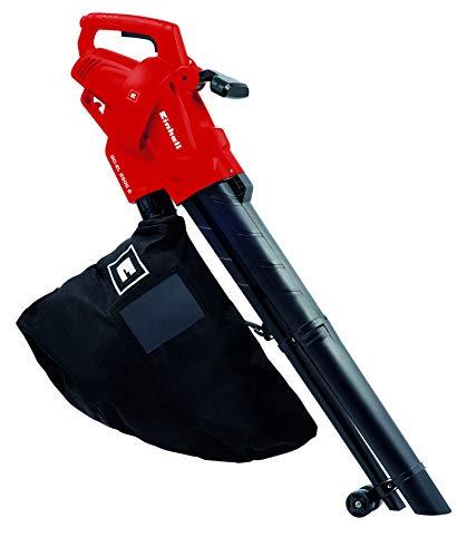 Einhell Aspirateur-Souffleur électrique GC-EL 2500 E (2500 W, Sac de ramassage 40 l, 2 roulettes de guidage, Sangle de portée réglable)