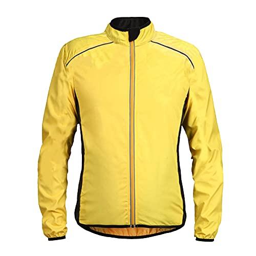 Indossare in Bicicletta Bike in Mountain-Campagna all'aperto Giacca Sportiva Traspirante Top Confortevole (S-4XL) yellow-3XL