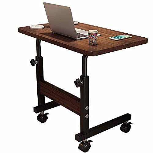 LJFYXZ Mesa de Ordenador Mesa para portátil Altura Ajustable 60 x 40 cm Escritorio de pie Móvil Portátil Mesa Auxiliar de Lectura de Madera(Color:Negro)