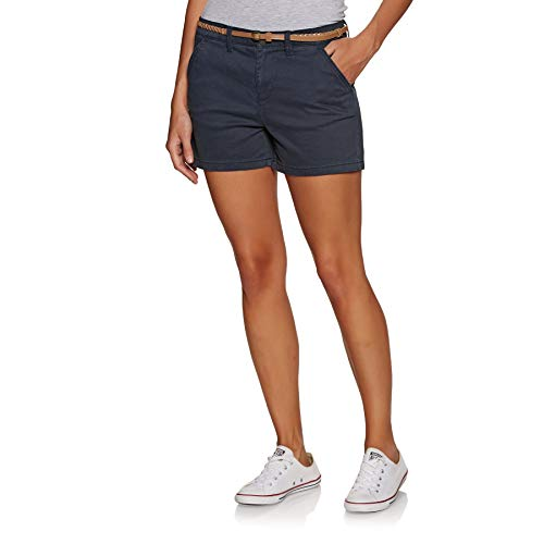 Superdry Chino Hot Short Pantaloncini, Blu (Midnight Navy 56t), XS (Taglia Produttore:8) Donna