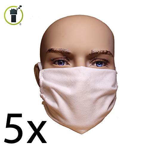 5er Sparset: Behelfs-Mundschutz-Maske - abkochbar - sofort lieferbar
