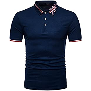 FNKDOR Fashion Men's Summer Golf Teenis Vocation Sport Exercise Father's Day Gifts Casual Flag Print Muscle Pullover Short Sleeve Shirt Top Blouse:Carsblog