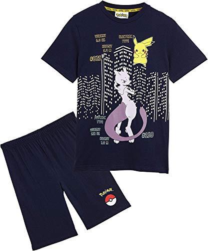 Pokèmon Pijama Niño, Pijamas Niños Cortos Conjunto 2 Piezas, Camiseta Personaje Pikachu, Ropa Niño de Dormir, Regalos Niños Niñas y Adolescentes Edad 4-14 Años
