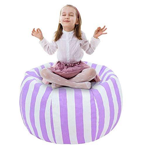 """UMYMAYDO1 38\"""" Stofftier Kuscheltiere Aufbewahrung Aufbewahrungstasche Sitzsack Kinder Soft Pouch Stoff Stuhl (Purple)"""