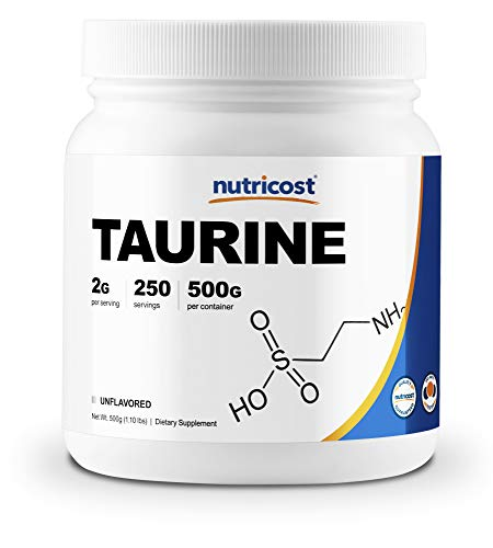 Nutricost Taurine Powder (500 Grams) - 250 Servings